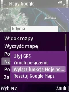 Nokia Google Mapy